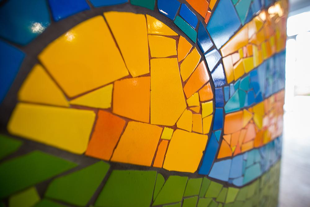 фрагмент готовой мозаики