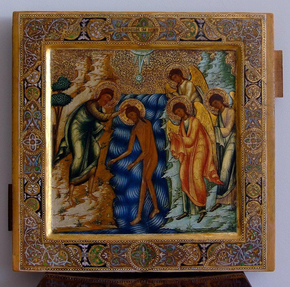 """Икона """"Крещение Господня"""" XIX в. Частное собрание"""