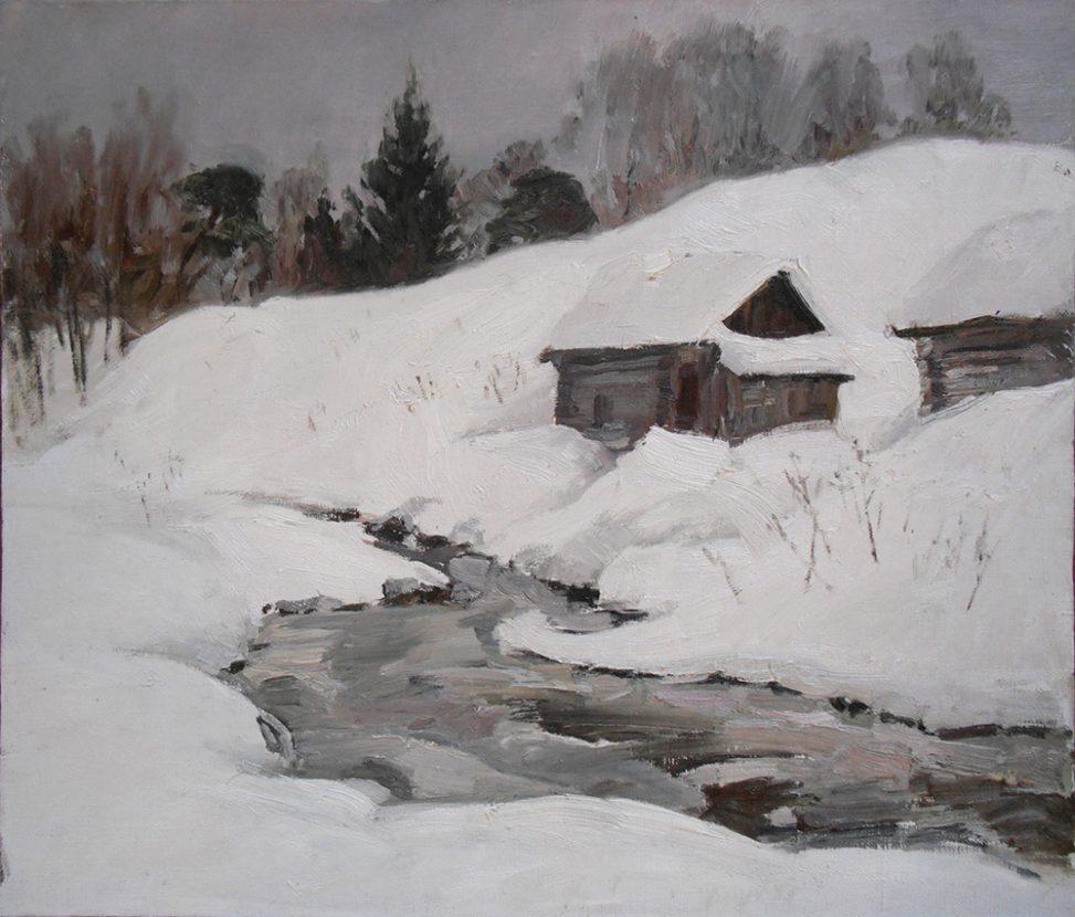 Пейзаж - Зима. Бани