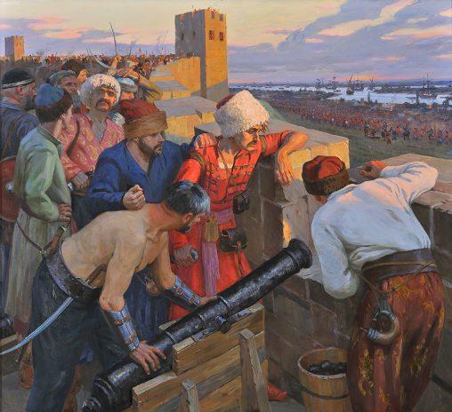 Историческая картина - Осада Азова