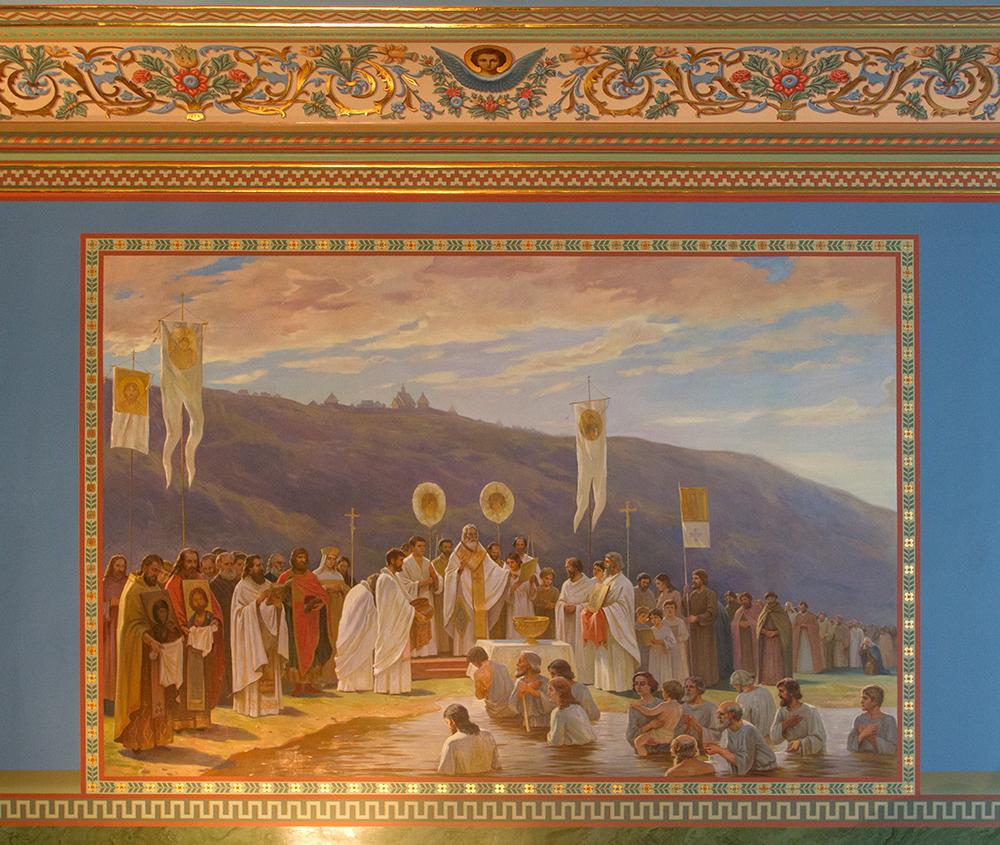 Роспись притвора Свято-Введенского храма